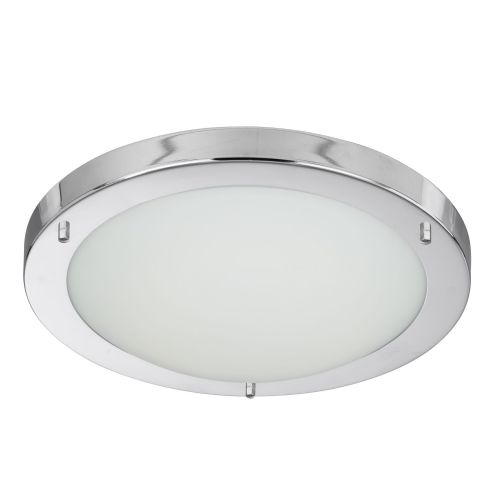 Chrome Led Flush Fitting, Opal Glass, 12W 8702Cc